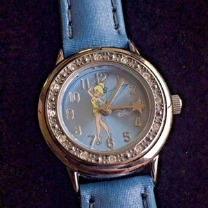 LADIES Disney Tinkerbell Watch Light Baby Blue